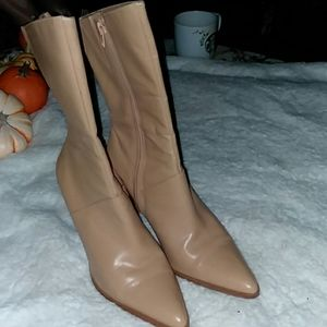 Upper leather boots